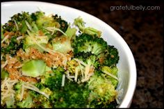 Grateful belly: parmesan roasted broccoli