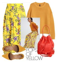 """""""Pops Of Yellow"""" by laurabosch on Polyvore featuring French Connection, PopsOfYellow and NYFWYellow"""