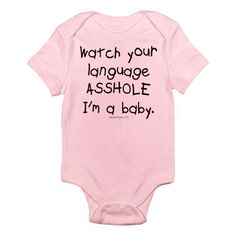 Watch your language... onsie