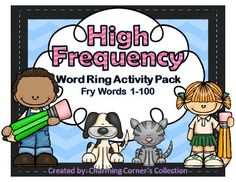 Fry Words ~ High Frequency Word Rings Set 1 is a wonderful way for your students to learn and reinforce their mastery of the first set of Fry High Frequency words as they work through the different word activities that this pack has to offer.