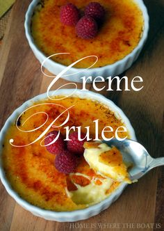 Creme Brûlée One of my favorite deserts Small Desserts, Just Desserts, Dessert Recipes, Pudding Desserts, Brulee Recipe, Great Recipes, Favorite Recipes, Eat Dessert First, Fabulous Foods