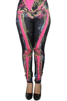 8004b72f75 Lexy Legging - Electric Skeleton Gothic Outfits