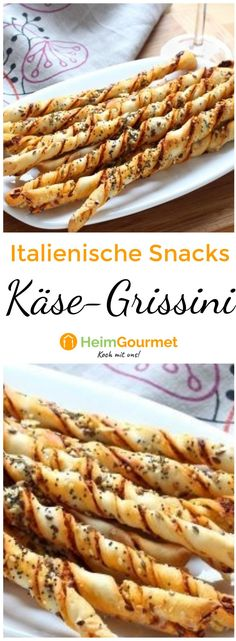 Italienisch snacken mit frisch gebackenen KÄSE-GRISSINI You are in the right place about baking recipes cream cheese Here we offer you the most beautiful pictures about the baking recipes banana you a Italian Snacks, Italian Appetizers, Italian Recipes, Appetizer Recipes, Snack Recipes, Party Recipes, Italian Party, French Recipes, Easter Recipes