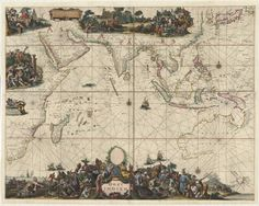 slnswmaps:  Oost Indien / Hugo Allardt excudit inde Kalver Araat Inde Wereldt Kaart Romano de Hoog[h]e … Published Amsterdam: Hugo Allard, ca.1668 Area: Indian Ocean and surrounding countries including Hollandia Nova, Indonesia, New Guinea and China. The map depicts the trading territory of the Dutch East India Company (VOC) in the mid 17th century and the inclusion of Dutch discoveries in Australia. Shows: rivers, lakes, islands, mountains, Dutch discoveries in Australia, ...