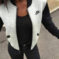 "Fashion Women ""NIKE"" Zip Cardigan Jacket Coat"