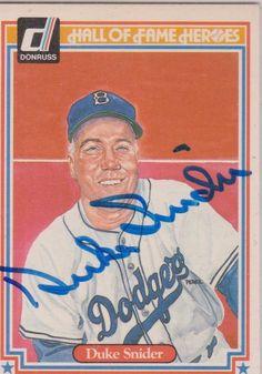 Duke Snider autographed 1983 Donruss HOF-Heros