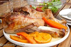 curcan-cu-tarhon-si-sos-de-portocale Romanian Food, Detox, Turkey, Chicken, Meat, Cooking, Kitchen, Turkey Country, Cubs