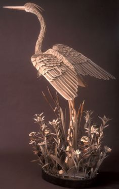 Artist James Grashow creates elaborate, often large scale cardboard sculptures of animals, figures, and architecture.