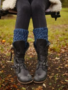 Crochet Spiral Rib | Leggy Boot Toppers by Vickie Howell from YarnYAY! January
