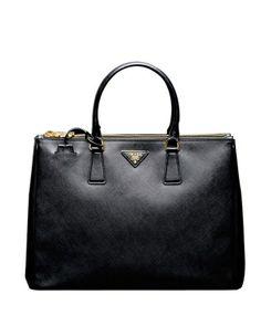 Prada Bn1786 Black Saffiano Large Leather Bag. Pure love.