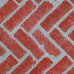 Herringbone Brick Wall & Floor stencil - Stencil with Paints - Plastic.  Amazon
