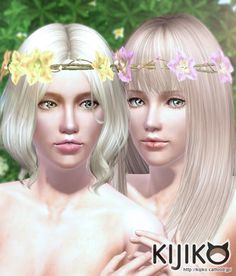 Flower Crown head accessory by Kijiko - Sims 3 Downloads CC Caboodle