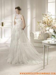 robe de mariée tulle application zopissa avec bouton
