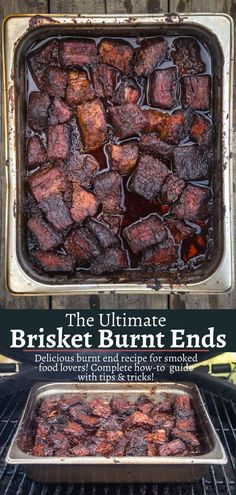 Beef Burnt Ends A recipe for Beef Brisket Burnt Ends using American Wagyu beef. Burnt Ends are one of the ultimate treats in BBQ and make an excellent appetizer. Learn how to make beef burnt end as well as a brisket flat. Best Beef Recipes, Beef Brisket Recipes, Smoked Beef Brisket, Smoked Meat Recipes, Smoked Brisket Flat Recipe, Bread Recipes, Pellet Grill Recipes, Grilling Recipes, Hamburgers