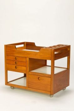 Danish 60' Walnut Serving Trolley....or changing table