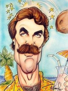 Caricaturas by Daniel Alho / Tom Selleck