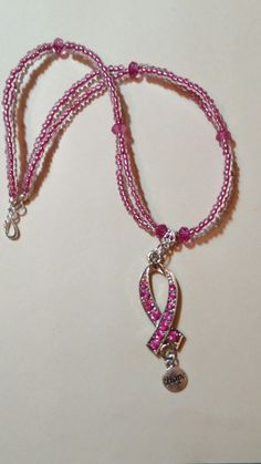 b49110498f7c Made this breast cancer awareness necklace for our Annual Breast Cancer  Awareness Luncheon at my church.