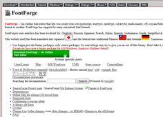Create and edit PostScript, TrueType, OpenType, svg and bitmap fonts with FontForge