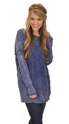 A ridiculously soft tunic with trendy, distressed details to give it a casual, urban chic vibe that we're obsessed with! $36 at shopbluedoor.com
