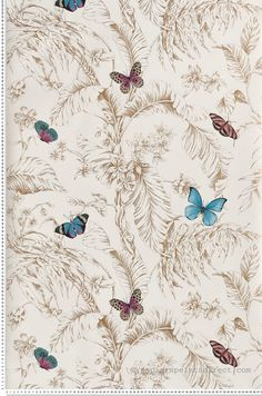 Papillon or - Collection Toiles de York by Initiales
