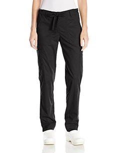 Koi Women's Stretch Lindsey Mid-Rise Drawstring Waist Cargo Scrub Pants, Black, Medium - http://best-women-shop.xyz/2016/06/18/koi-womens-stretch-lindsey-mid-rise-drawstring-waist-cargo-scrub-pants-black-medium/