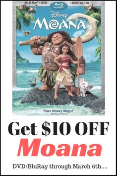 Get $10 off Moana DV