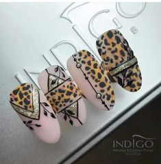 Elegant and Cute Acrylic Nail Designs, unique ideas for you to try in special day or event. Cute Acrylic Nail Designs, Cute Acrylic Nails, Nail Art Designs, Tiger Nails, Leopard Nails, Nail Swag, Nail Drawing, Vintage Nails, Pretty Nail Art