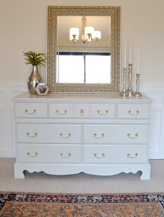 LiveLoveDIY: 10 Thrift Store Shopping Secrets You Should Know- great idea for that old brown dresser in your room.
