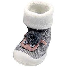 a2bbf7a9e4b Mitlfuny Bebé Niños Niñas Invierno Zapatos para Niño Piso Calcetines Suelas  de Goma Zapatillas para Niña