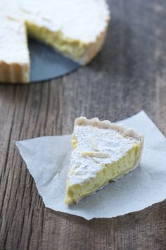 creamy meyer lemon, bergamot orange and fresh ricotta tart. Recipe and photo from @Fresh New England