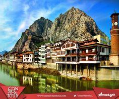 Haftanın yurt içi seyahat önerisi; doğa manzarası ve tarihi evleriyle ünlü şehzadeler şehri Amasya. #gezelimgörelim #amasya #seyahatönerileri
