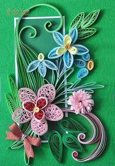 Printre hobby-uri: quilling, kusudama, origami, bijuterii handmade...: Quilling - Pink flowers
