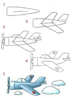 Cómo dibujar un avión
