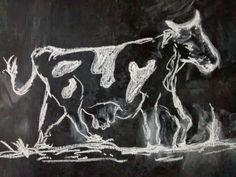 Toda la vaca en tiza