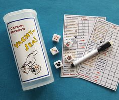 "Disney Cruise Inspired ""Captain Mickey's Yacht-Sea!"" Yahtzee Game ~ Upcycled! ~ Perfect Fish Extender Cabin Gift!"