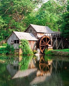 Virginia, USA gristmill via John Wasserman