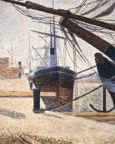 A Corner of the Harbor of Honfleur  di Georges Seurat