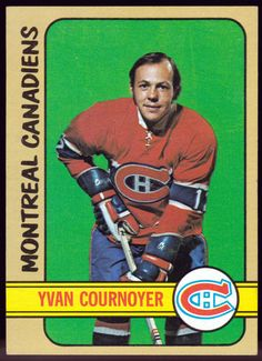 MONTREAL CANADIANS 1972-73 TOPPS YVAN COURNOYER EXMT+ CONDITION  FREE SHIPPING #MontrealCanadiens