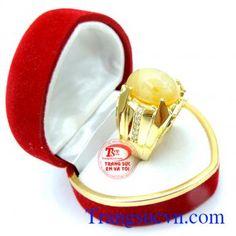 Nhẫn nam sapphire vàng cabochon