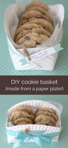 A creative way to use paper plates for a cookie basket!