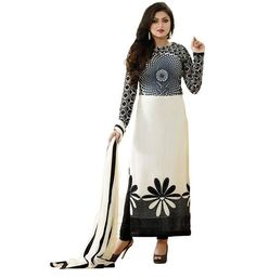 Shop Designer salwar suit dress material online at ladyindia.com at best prices. Soar to a new high of ecstatic spirit with this Eccentric Floral Printed Crepe Dress Material. It Carries Olive green coloured Top, Sea Blue coloured Bottom and turoquoise coloured Georgette Dupatta which will make you Dazzle like million stars.