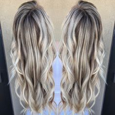 Long blonde hair with depth and dimension