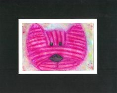 Original Acrylic Painting CoCo the Cartoon Cat  Sweet by rostudios, $20.00