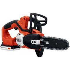 Black Decker Lithium-Ion Cordless Chain Saw - Our battery-powered outdoor products help you work smarter, faster and cleaner-without compromises. Product Features Max Lithium Ion battery has a longer lifespan and retains Black Friday Tools, Best Black Friday, Chainsaw Reviews, Best Chainsaw, Cordless Chainsaw, Best Riding Lawn Mower, Electric Chainsaw, V Max, Outdoor Power Equipment