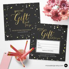 Photography Gift Certificate Template for Photographer - INSTANT DOWNLOAD - GC008