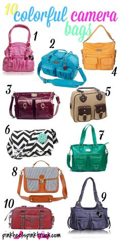 10 Colorful Camera Bags - Pink Heels Pink Truck
