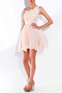 Perfect Prom Dress With Lace Trim