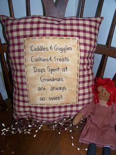 Primitive Craft Ideas | primitive craft ideas / Cute pillow