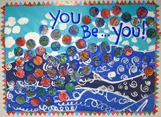 Cassie Stephens: In the Art Room: You Be You Mural Complete! Group Art Projects, School Art Projects, Art School, School Ideas, Diy Projects, Elementary Art Rooms, Art Lessons Elementary, Art Bulletin Boards, Cassie Stephens