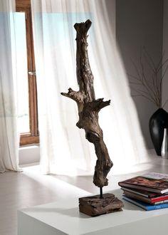 Schon Deko Säule Teakholz Massiv Holz Standwurzel Höhe 75,0 Cm 21222